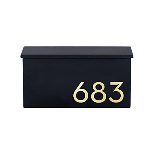 The OG Mailbox - 14 Gauge Steel - Durable and Weather Proof - Black, Brown, Gray, White - Customized House Numbers - Made in The USA - Weather Resistent