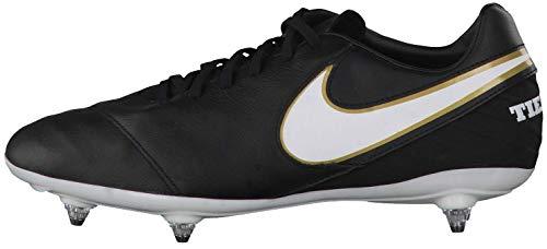 Nike Tiempo Mystic V SG, Botas de fútbol para Hombre, Negro/Blanco (Black/White-Metallic Gold), 47 1/2 EU