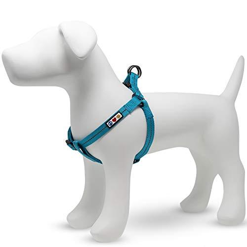Pawtitas ♻️ Arnes para Perro Reciclado con Costura Reflectante | Arnes para Cachorros Hecho de Botellas de plástico recogidas del Oceano - Arnes Olas Lila Pequeño