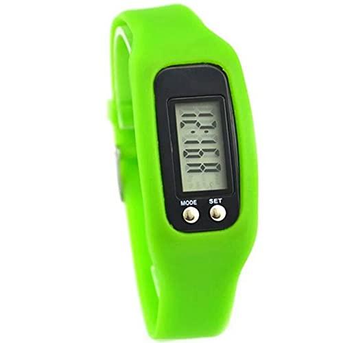 woyada Reloj de pulsera podómetro con pantalla LCD contador de calorías millas operación simple caminar fitness Tracker banda de muñeca digital contador de pasos