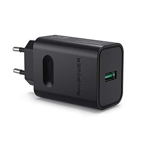 RAVPOWER Cargador Rápido QC 3.0 Cargador USB de Pared 5V/2.4A Cargador de Red