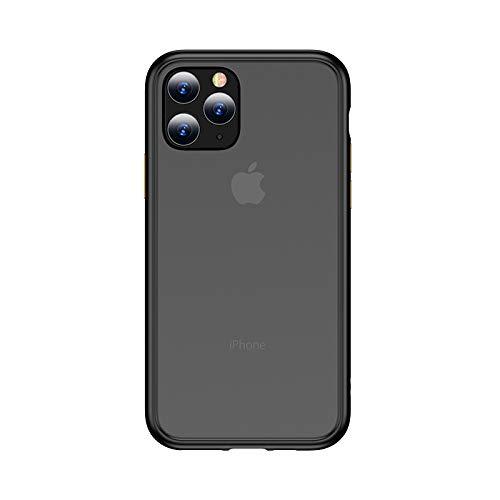 LWL House Case for iPhone 11 Pro Gingle Series Funda TPU + PC a Prueba de Golpes Durable (Color : Black)