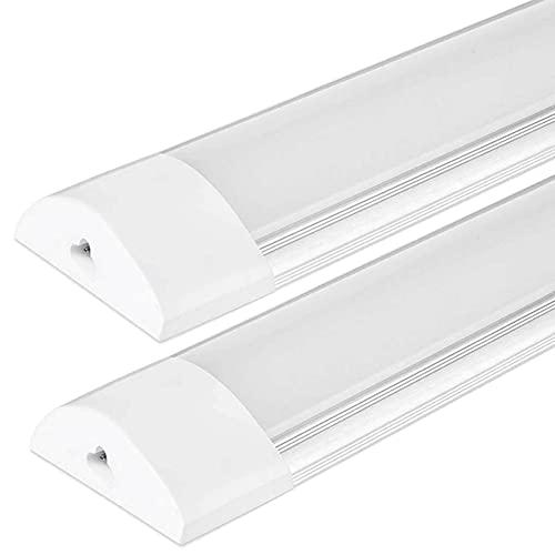 2x Plafoniere LED A Soffitto 20W 60cm 2000 Lumen Luce Lampada Sottopensile Led Cucina, Officina, Garage (Bianco Freddo-6000K, Pacco da 2)