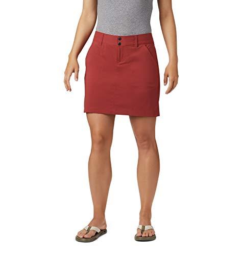 Columbia Saturday Trail, Falda pantalón, Mujer, Rojo (Dusty Crimson), Talla 4