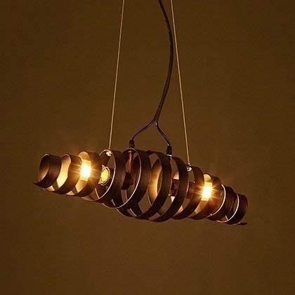Hanglamp, creatieve Tornado kroonluchter plafondlamp loft bar woonkamer western restaurant kroonluchter schone Villa Garage ketting instelbare E27 vintage industriële retro ijzeren suede lig