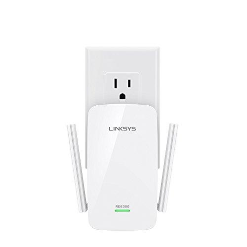 Linksys AC750 Boost Dual-Band Wi-Fi Gigabit Range Extender / Repeater (RE6300)