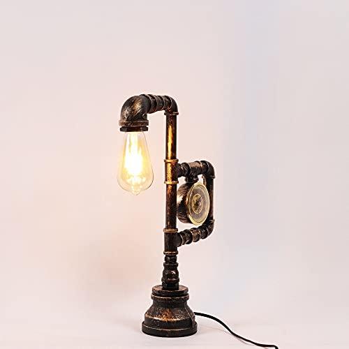 LED/lámpara incandescente/lámpara retro tubo de agua lámpara de mesa brazo se puede ajustar libremente sala dormitorio decoración lámpara noche noche noche noche