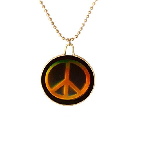 Gudeke Steampunk Laser Objektiv Friedenssymbol Anhänger Halskette