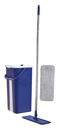 STARLYF AutoClean Mop – el Sistema de Limpieza con mopa y cubo autosecador, una Escoba de Microfibra y un Cubo de Dos Compartimentos.