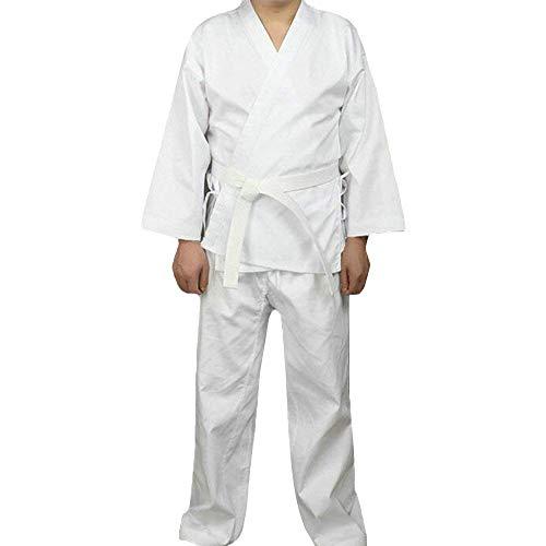 G-like Karate Judo Anzug Kleidung - Kampfkunst Judogi Aikido Keikogi Jiu Jitsu Taekwondo Bando Kung Fu Outfit Training Uniform Kostüm Set Jacke Hose Freier Gürtel für Männer Frauen Kinder (180 cm)