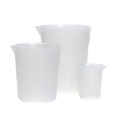 Azlon beker van kunststof, conisch gevormde graduatie A-Z, PP, 5000 ml, 1