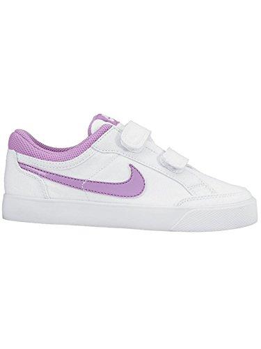 Nike Mädchen Capri 3 LTR (PSV) Tennisschuhe, Weiß, Violett, Fuchsia, Glow, 28.5 EU