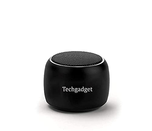 Techgadget Super Ultra Mini Boost Wireless Portable Bluetooth Speaker Built-in Mic High Bass Selfie Remote Control Button Low Harmonic Distortion for Android, iPhone, Ipad - Black (N-1229)