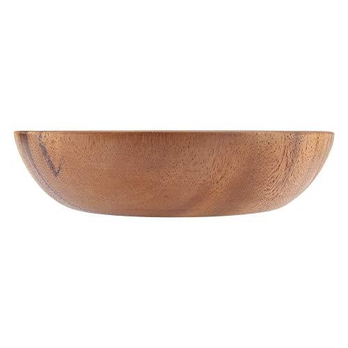Vaste acaciahouten schaal voor slaap soep rijst handgemaakte houten schaal voor keukengerei MEERWEG verpakking socialme-eu