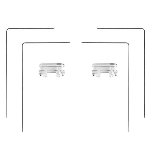 CLIUS - Soporte de luz para acuario con base para acuario, ajustable, duradero, destornillador, de longitud ajustable, de acero inoxidable resistente, soporte extensible