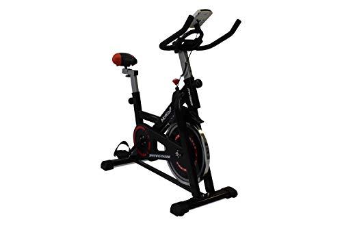 Generico Spin Bike MK328 Volano 10Kg Trasmissione a Cinghia Telaio in Acciaio Display LCD Supporto Universale Tablet