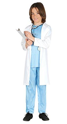 Guirca - Disfraz de médico, talla 3-4 años, color azul (85726)