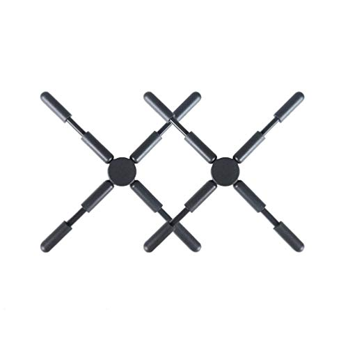 Hemoton 2 Piezas de Salvamanteles Plegables Antideslizantes de Silicona Diseño Cruzado Plegable...