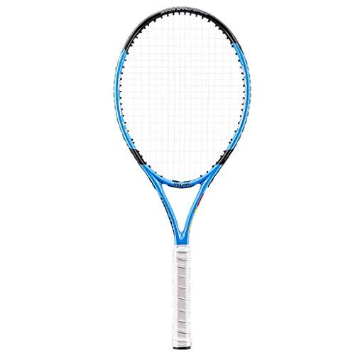 YFDD Única Raqueta de Tenis 4 1/2 pulg Grip Adulto Cabeza Pesada Equilibrio Azul Raqueta de Tenis con la Cubierta Hombres Mujeres aijia