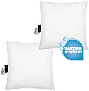 """IZO Home Goods 20""""x20"""" Water Resistant Indoor/Outdoor Anti-Mold Patio Furniture Pillows Throw Pillow Cushion (Set of 2) Ma..."""