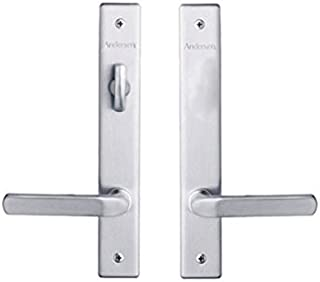 Andersen Anvers Style (Double Active) Hinged Door Hardware Set in Satin Nickel