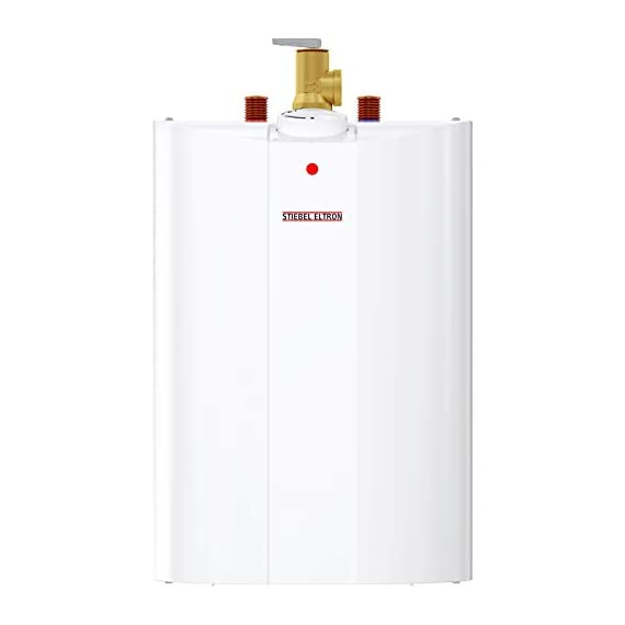 Stiebel Eltron 233219 2.5 gallon, 1300W, 120V SHC 2.5 Mini-Tank Electric Water Heater 2 Plugs into standard 120 volt outlet T and P valve included Wall-mounted with included bracket