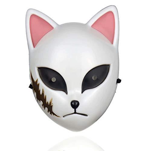 Demon Slayer kat masker speelgoed, Comic replica masker, Cosplay Halloween kostuum rekwisieten voor volwassenen Eén maat roze