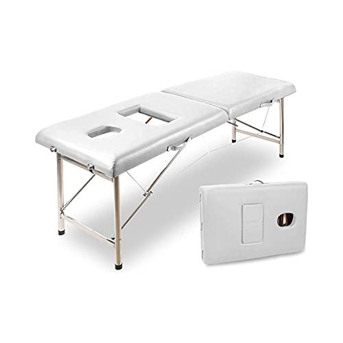KSDCDF. Massaggio Pieghevole in Alluminio Massaggio Spa Bed Vial Tattoo Seletto Pieghevole da Massaggio Pieghevole (Color : A)