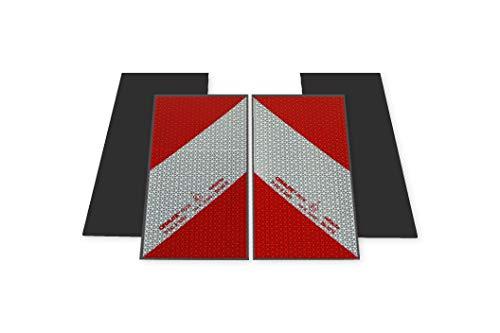 Magnetische Reflecto Kfz-Warnmarkierung aus Orafol ORALITE 5921M in vielen Varianten (Reflexfolie, 4 x 141mm x 282mm)