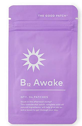 The Good Patch Awake B12 Patch! Transdermal Patch with B12, B1, Caffeine, and Green Tea Extract! Designed to Help with Energy During The Day! (Awake)