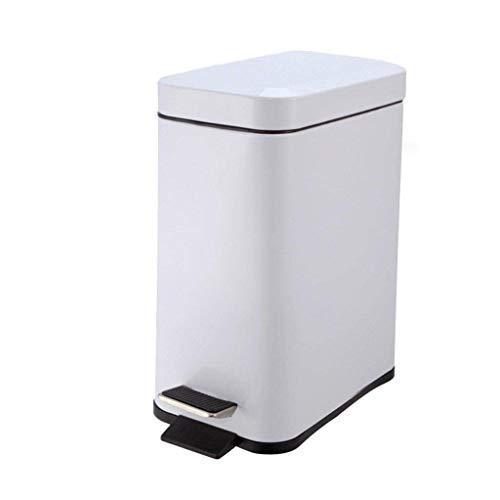 Vuilnisemmer oud papier Bin Covered roestvrij staal container prullenbak voor woonkamer slaapkamer keuken kantoor (kleur: A) A
