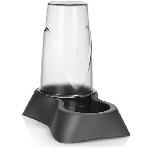 com-four® Dispenser per Ciotola e Acqua - Mangiatoia Automatica 2 in 1 per Alimenti secchi e Acqua - Dispenser per Cani e Gatti