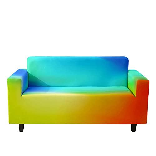 Treer 3D Funda Elástica de Sofá Universal, 1/2/3/4 Asientos Fundas Protectora para Sofa, contra Polvo Extraíbles y Lavables Moderno Cubre Sofa Proteger (Multicolor,2 Asientos: 145-185cm)