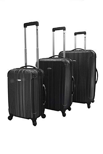 Chariot DM-31 Monet Black 3pc Luggage Set Black