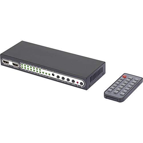 SpeaKa Professional 6 Port HDMI-Matrix-Switch mit Picture in Picture-Funktion, mit Fernbedienung 3840 x 2160 Pixel