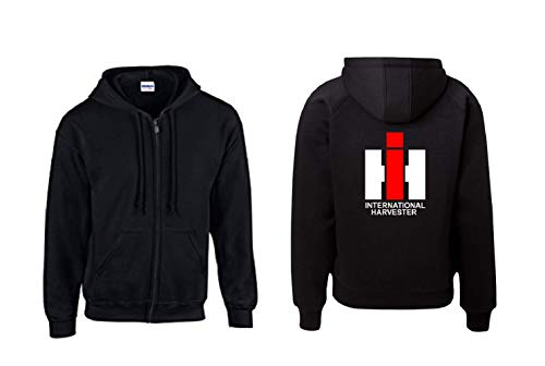 Textilhandel Hering Jacke - IHC International Harvester (Schwarz, XL)