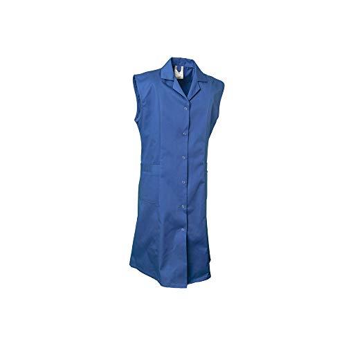Planam Größe 52 Damen Planam Damen Berufsmantel ärmellos Baumwolle kornblau Modell 1691