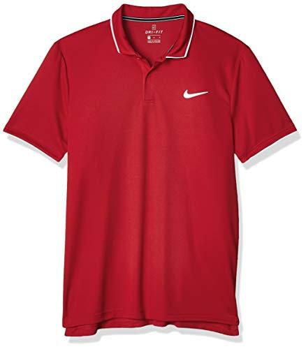 NIKE M Nkct Dry Polo Team Camiseta, Hombre, Gym Red/White/ (White), S