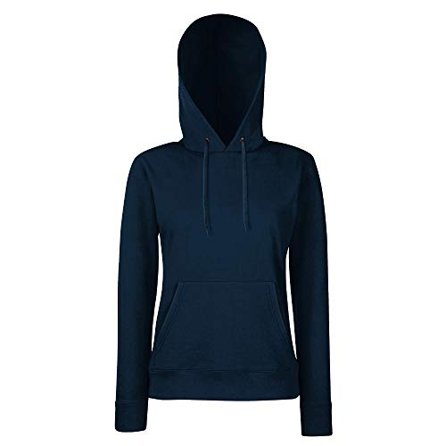 Fruit of the Loom - Lady-Fit Hooded Sweat M,Deep Navy