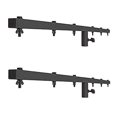 2 x Pulse Heavy Duty 1.5m Lighting Stand T Bar