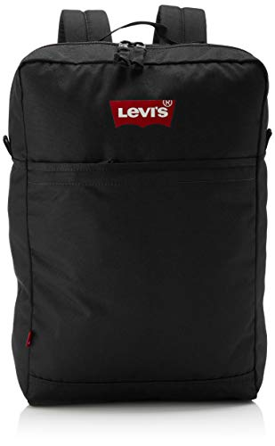 Levis Homme The L Pack Slim (Red Batwing) Sac a Dos Noir (Regular Black), 14x29x45 cm (W x H x L)