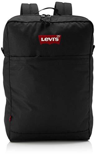 Levi's Levi'sThe L Pack Slim (red Batwing) HombreMochilasNegro (R Black) 14x29x45 centimeters (W x H x L)