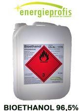 energieprofis 20 L (2x10L) Bio Alkohol 96,5% Ethanol BIOETHANOL Kamin