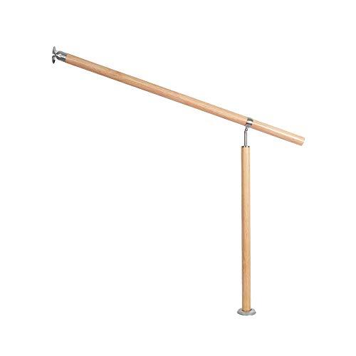 Barandilla para escaleras de UISEBRT, con vetas de madera, para interior y exterior