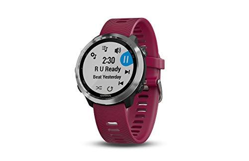 Garmin 010-01863-21 Forerunner 645 Música, GPS Running Watch con pagos sin contacto, frecuencia cardíaca y música basada en la muñeca, cereza, 1.25 pulgadas (renovado)