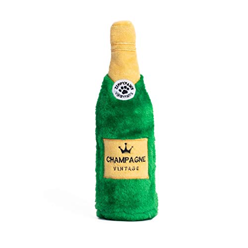 ZippyPaws - Happy Hour Crusherz Drink Themed Crunchy Water Bottle Dog Toy - Champagne