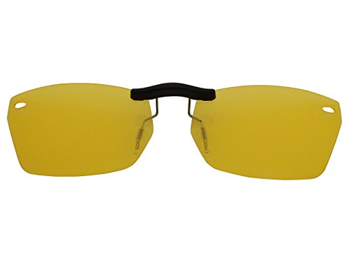 Custom Fit Polarized CLIP-ON Sunglasses For Ray-Ban RB5255 51X16 HD Yellow