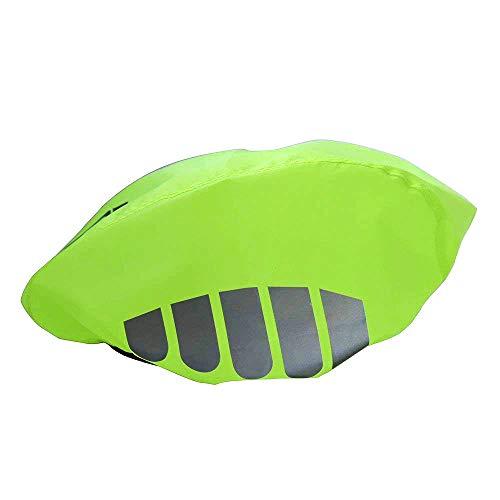 TOPIND Copertura per casco da bici ad alta visibilità in nylon antivento antipolvere antipioggia per bici da strada e ciclismo con strisce riflettenti protezione antipioggia, universale taglia unica