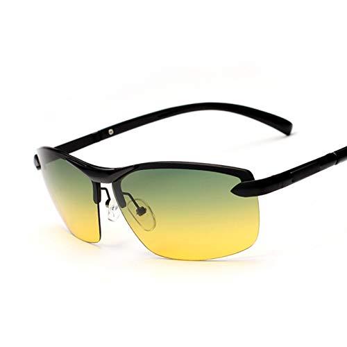 PrittUHU Hombre Día y Noche Gafas de Sol polarizadas Gafas Multifunción Reduce Glass UV400 Gafas de Gafas de Sol (Frame Color : Package 2, Lenses Color : Black)
