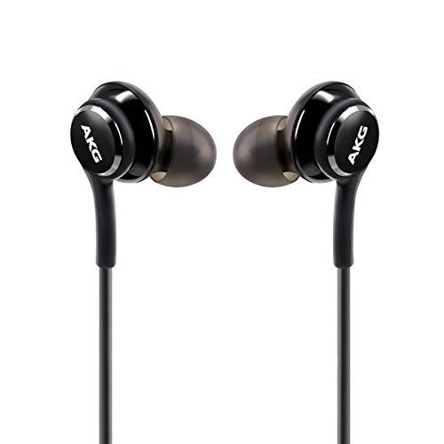 AKG Stereo In-Ear Headset voor Samsung Galaxy S10, S10 Plus, S9, S9 Plus, S9 Duos, S9 Duos+, S8, S8 Plus, S8 Active, S7, S7 Edge, S6, S6 Edge, A8 2018, A8 Plus, Note 8 - zwart (zwart)